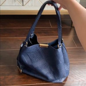 Burberry Embossed Canterbury Tote in Navy